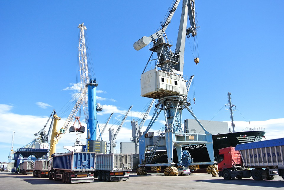 Ship, Load, Stowage, Port Of Sagunto, Crane, Truck