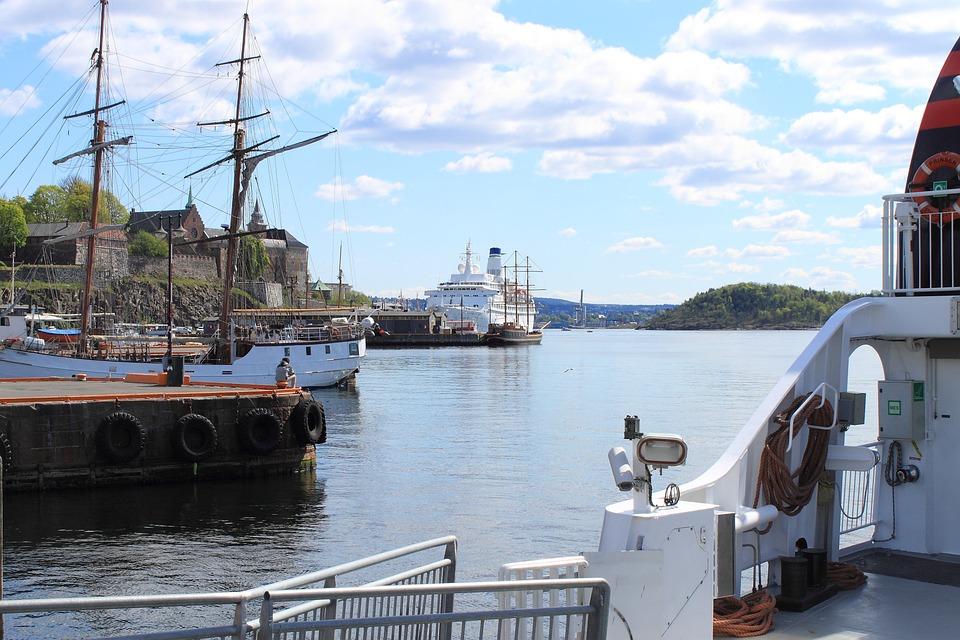 Oslo, Norway, Port, Ship, Oslofjord