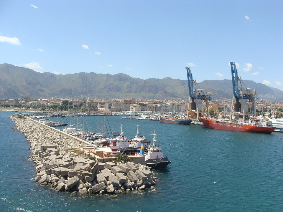 Port, Part, Crane, Landscape