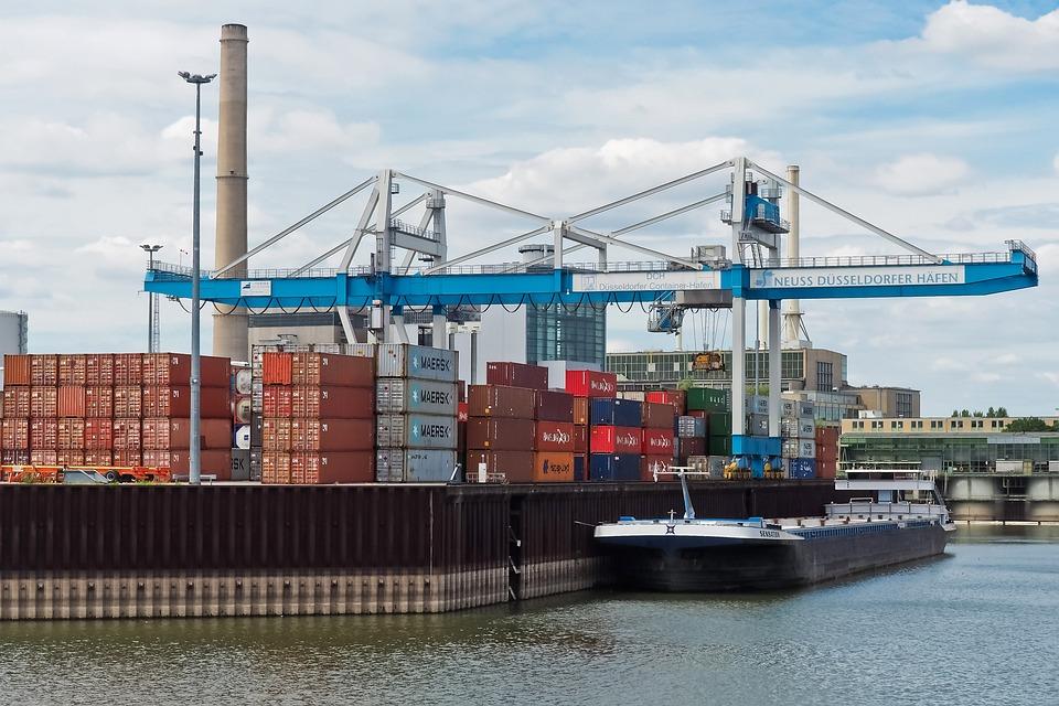 Port, Port Facility, Transport, Water, Crane