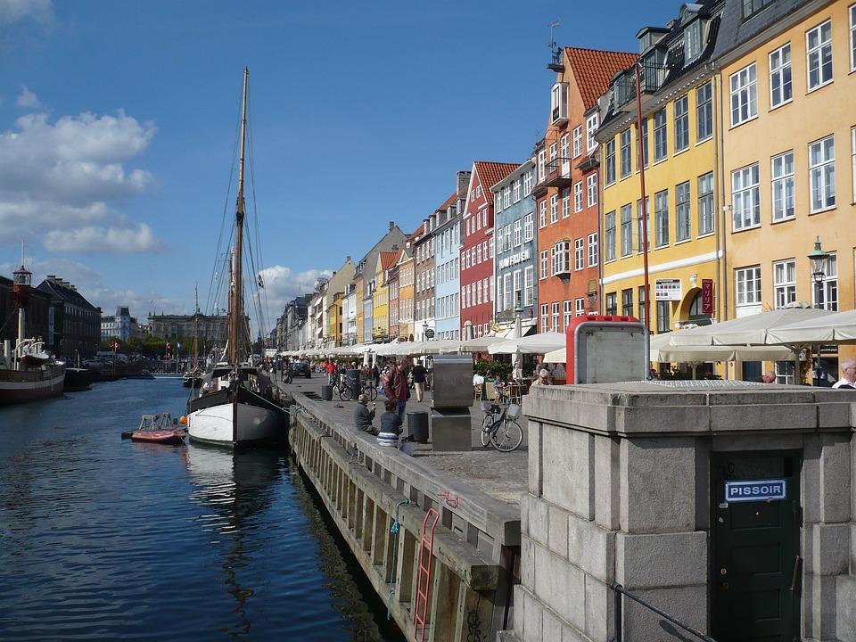 Copenhagen, Port, Ships, Promenade