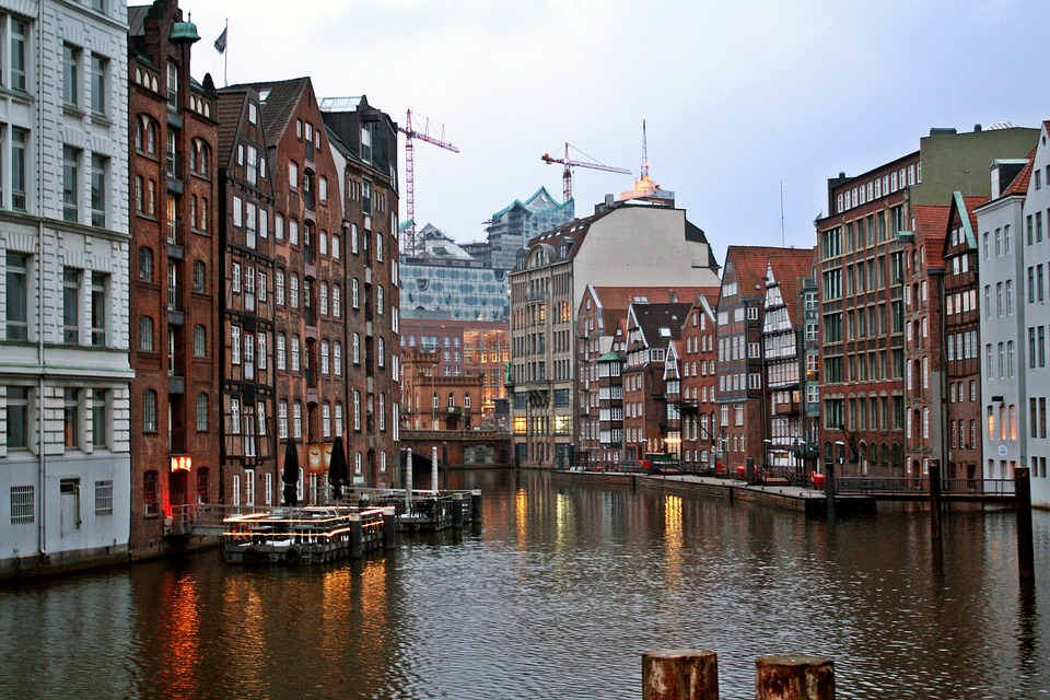Rainy Weather, Hamburg, Port, Fleet Historically