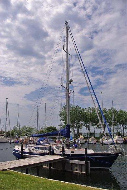 Sailing Vessel, Mast, Boot, Port, Fehmarn, Baltic Sea