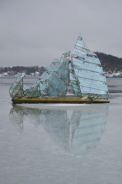 Oslo, Sculpture, She Read, Hun Ligger, Port, Artwork