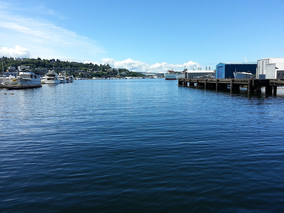 Seattle, Water, South Lake Union, Port, Harbour, Travel