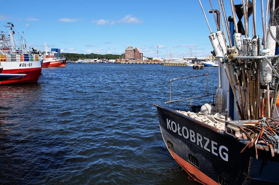 Kolobřeh, Port, Fishing, Sea, Ship, Granary, Moored