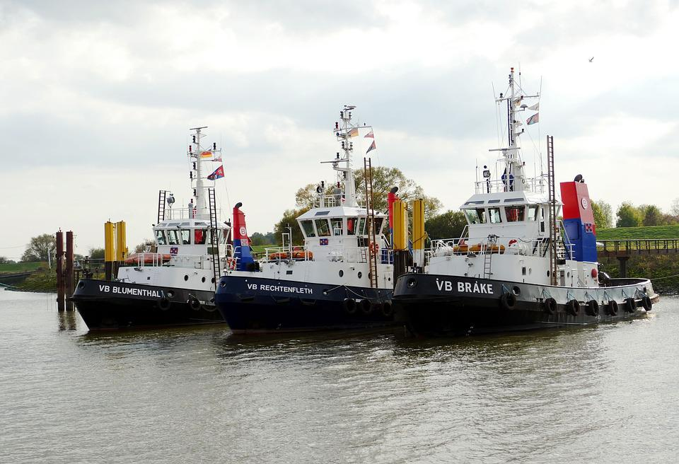 Port, Bremen, Weser, Transport, Ship, Tug, Shipping