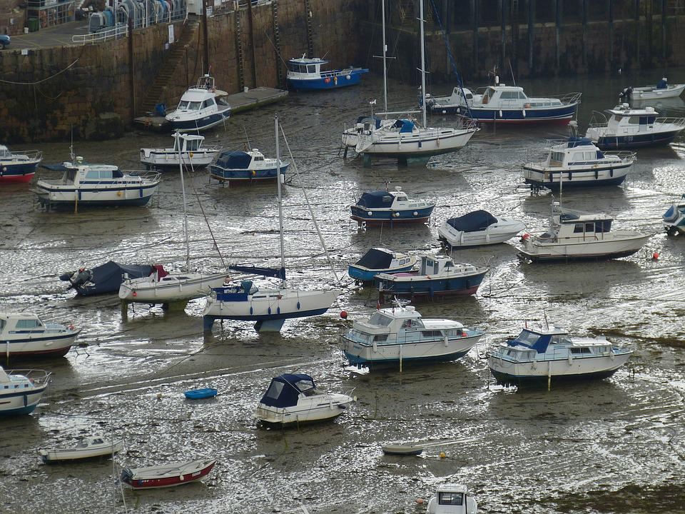 Jersey, Orgueil, Port, Ships, Island Of Jersey, Sea