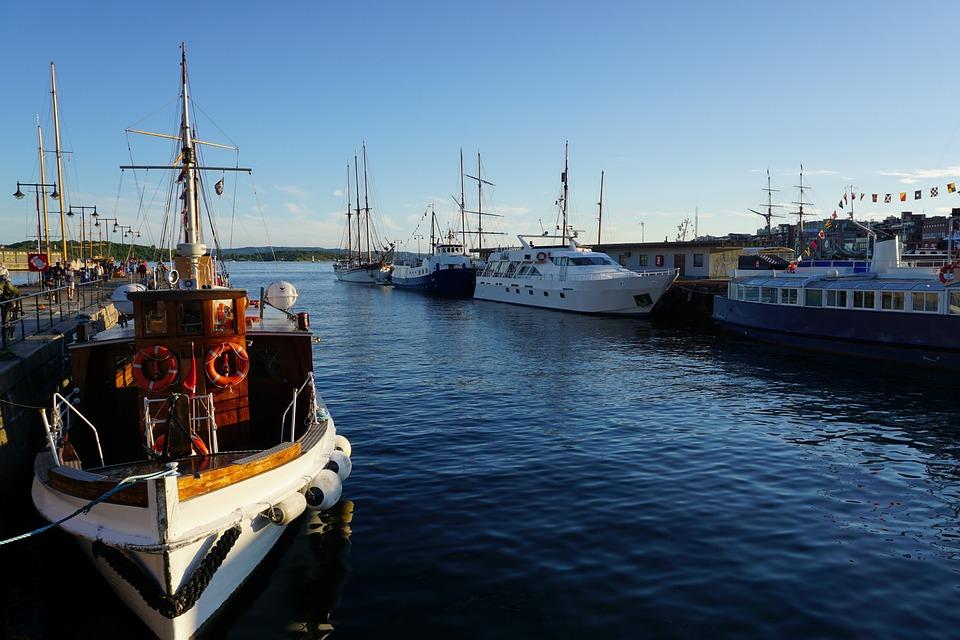 Oslo, Port, Ship, Travel, Norway, Holiday, Blue, Sky