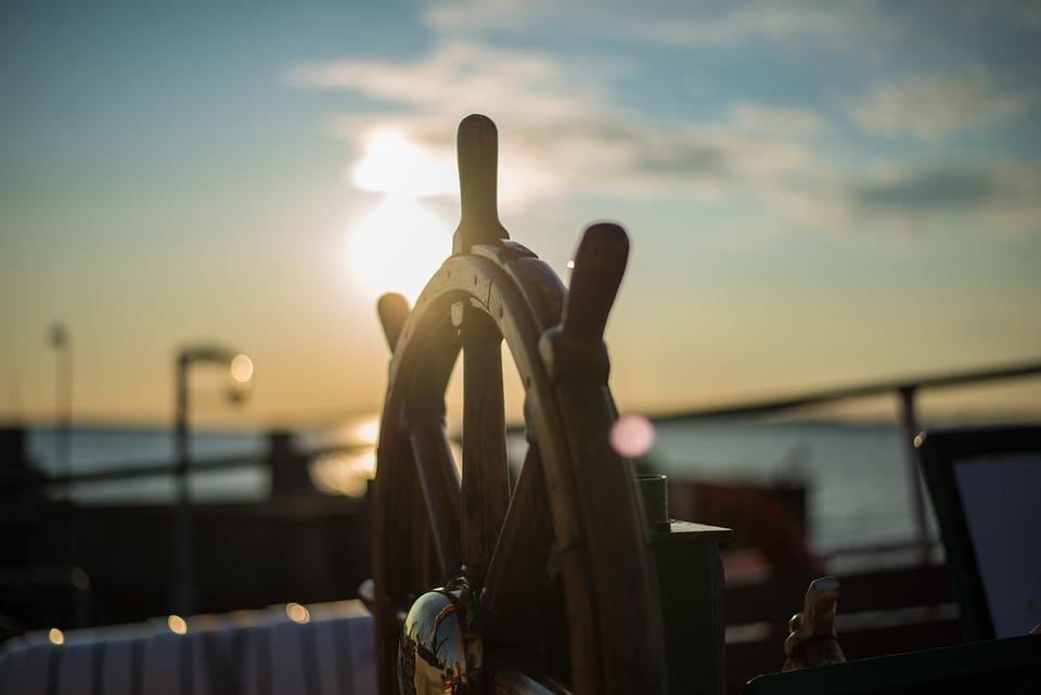 Port, Rudder, Sunrise
