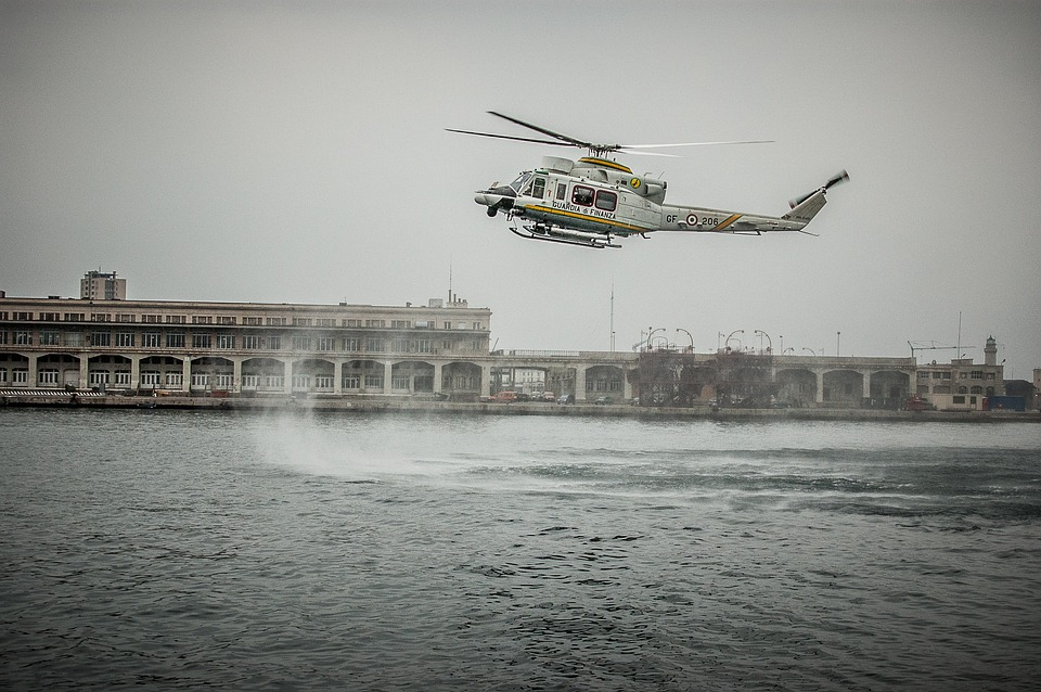 Helicopter, Italy, Trieste, Control, Sea, Port