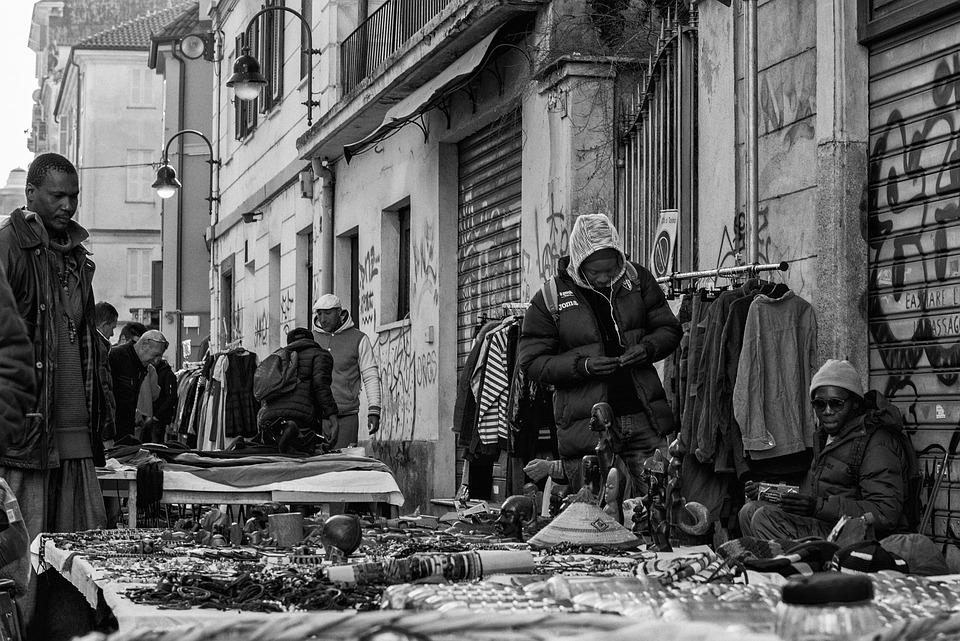 Torino, Market, Porta Palazzo, Piemonte, Italy, Mole