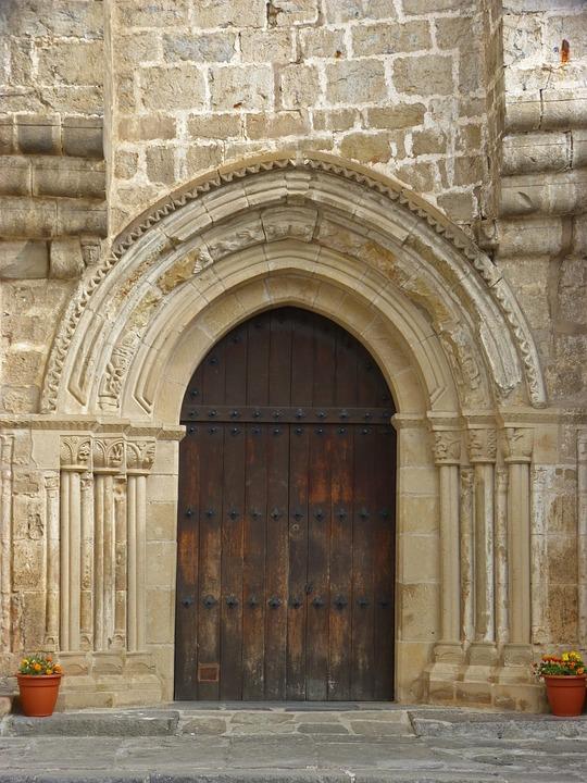 Door, Portal, Church, Gothic, Architecture