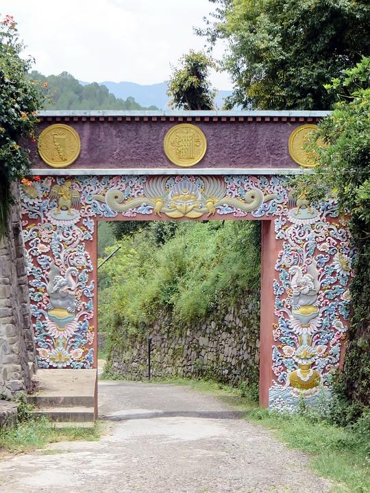 Nepal, Kathmandu, Temple, Tibetan, Portal, Decoration