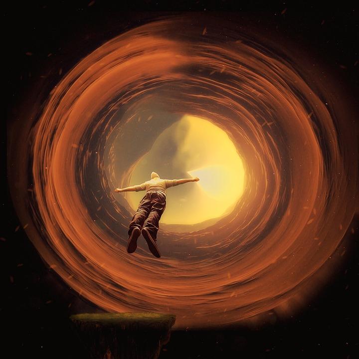 Portal, Photoshop Manipulation, Flying Men