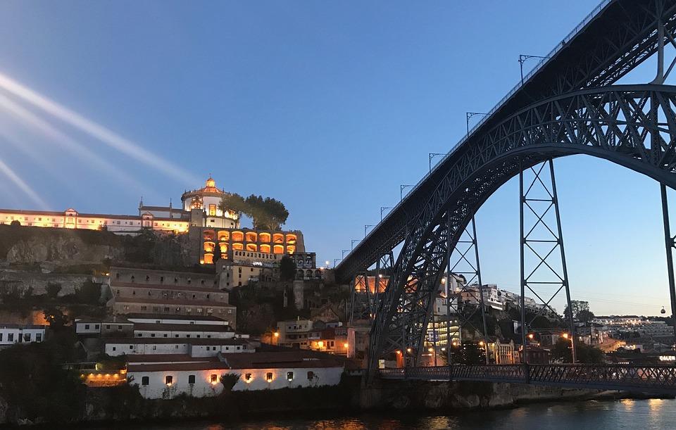 Porto, Ponte, Bridge Dusk