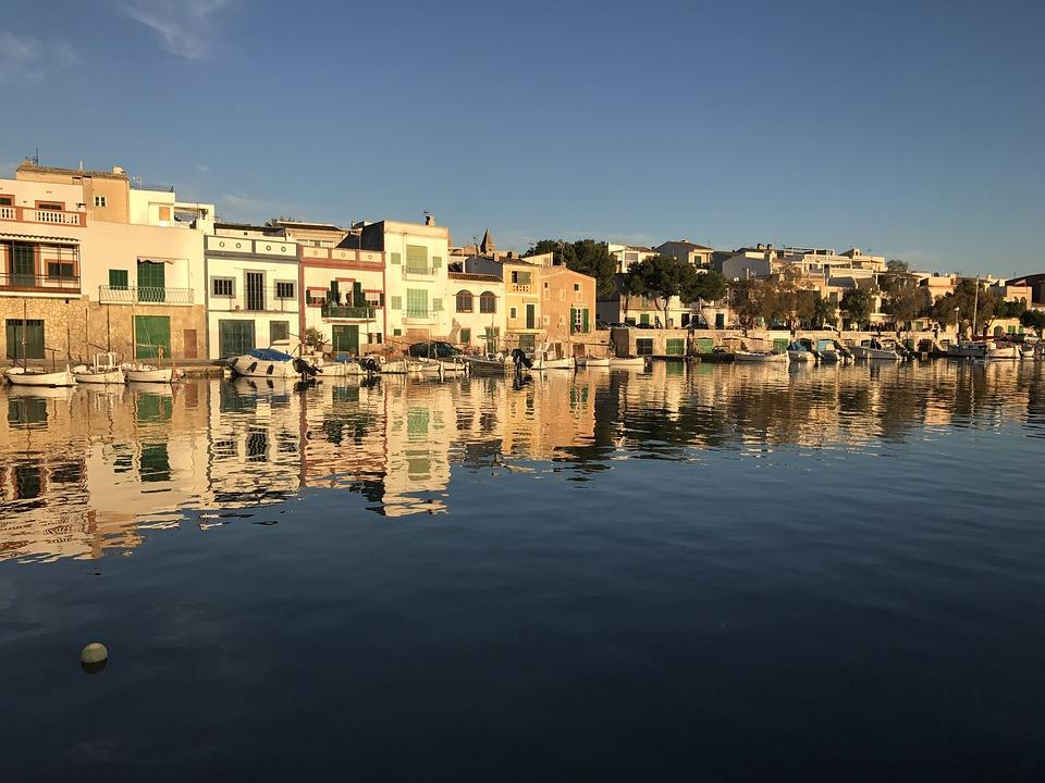 Mallorca, Porto Colom, Port, Waters, Sea, Panorama