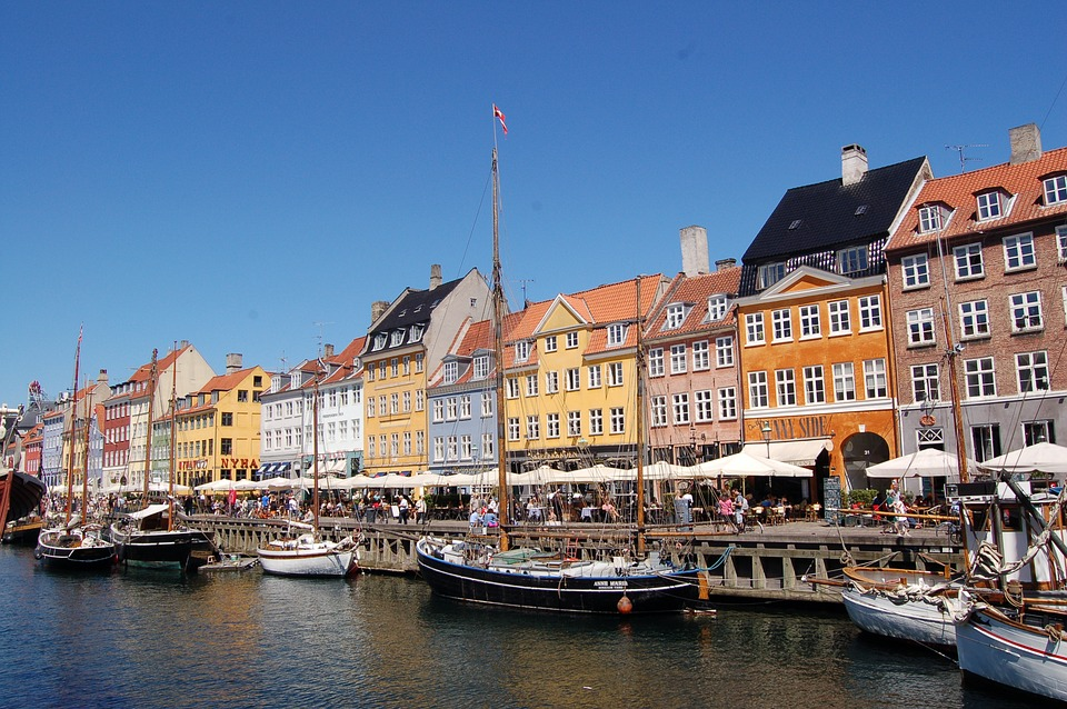Porto, Nyhaven, Denmark, Houses, Boats, Copenhagen