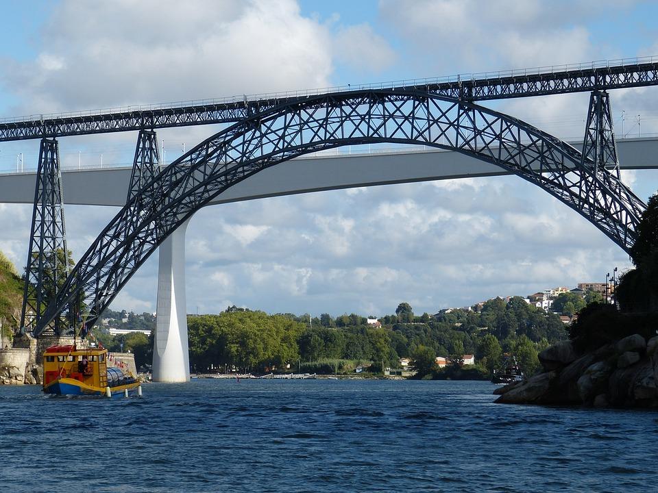 Portugal, Porto, Tourism, Douro, Hill, Cross, Arch