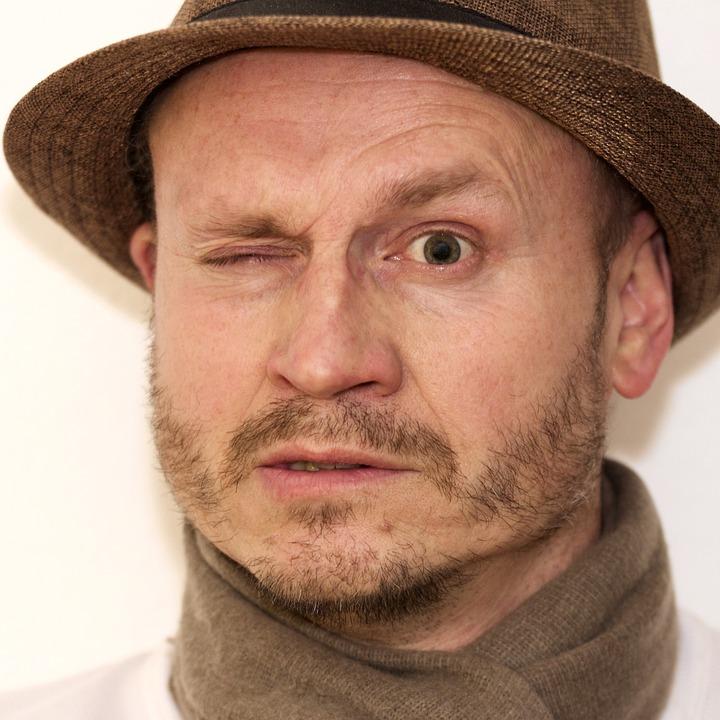 Man, Hat, An Eye, Critical, Male, Portrait
