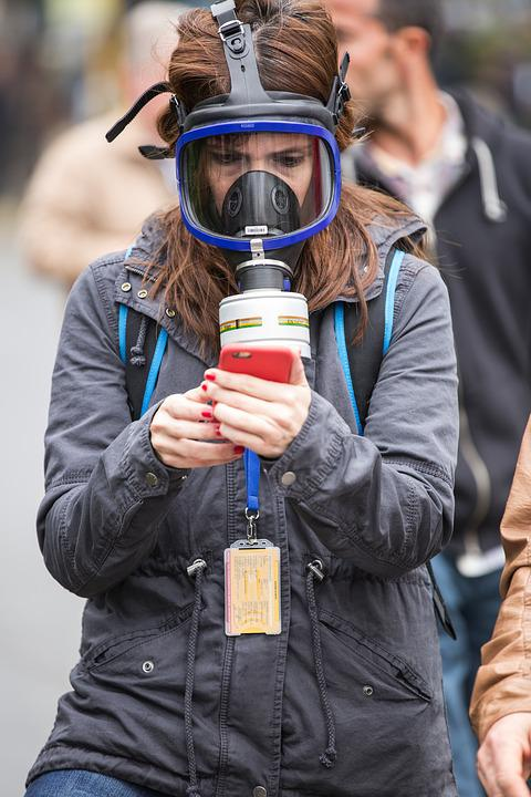 Gas Mask, Camera, Portrait, Exposure, Attack, Young