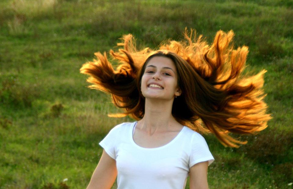 Girl, Portrait, Long Hair, Play, Autumn, Beauty