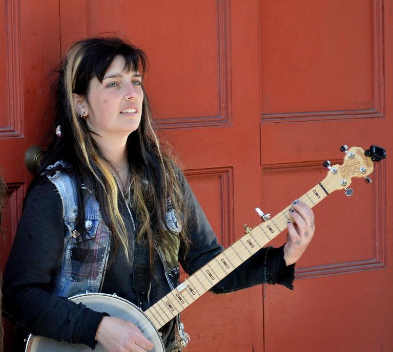 Banjo, Musician, Portrait, Music, Instrument, Musical