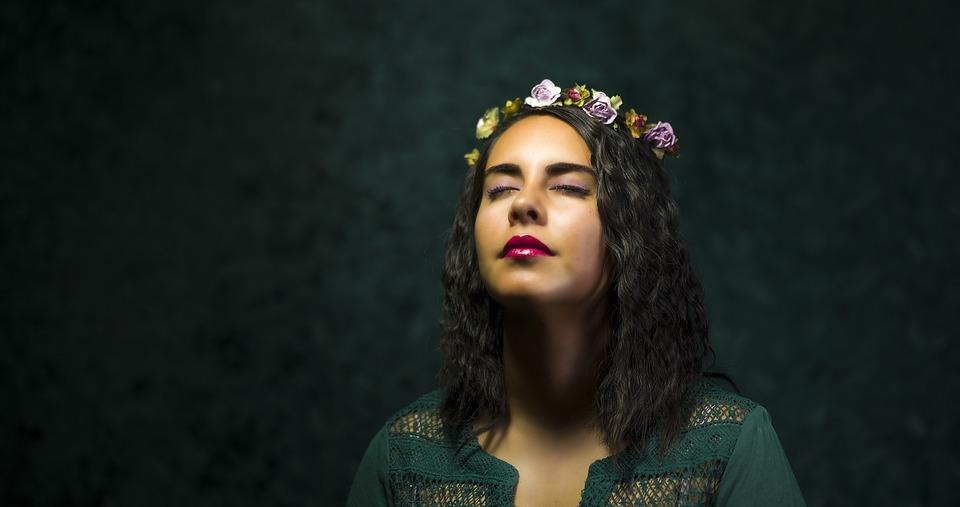 Beautiful, Fashion, Flower Crown, Girl, Model, Portrait