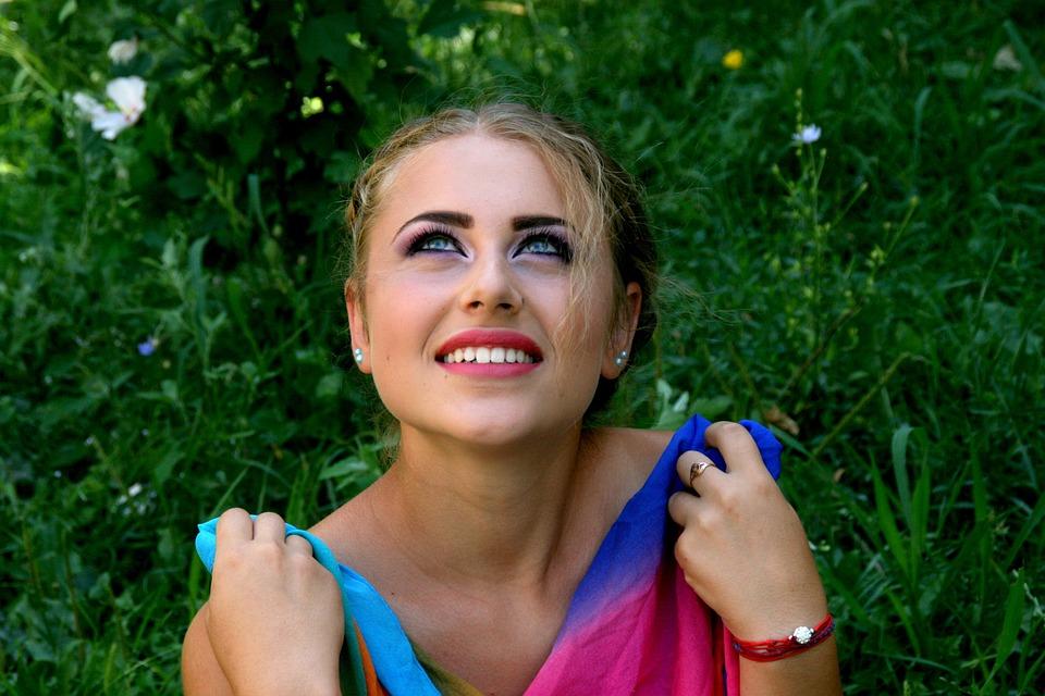 Girl, Coloring, Portrait, Seductive, Beauty