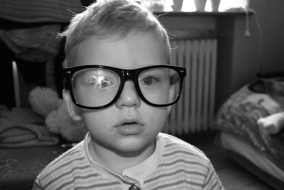 Boy, Glasses, Portrait