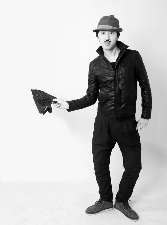 Black And White, Portrait, Chaplin