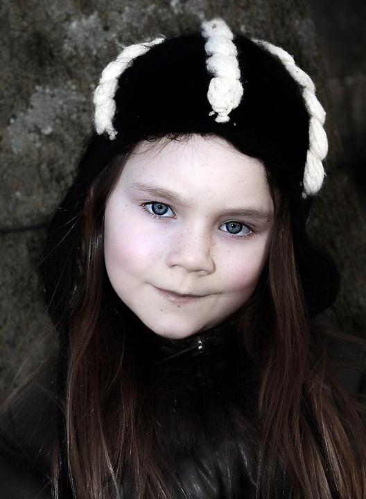 Portrait, Person, Child, Face, Bonnet, Cold, Winters