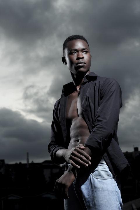 People, Portrait, Man, Adult, Dark, Kenyan, Model