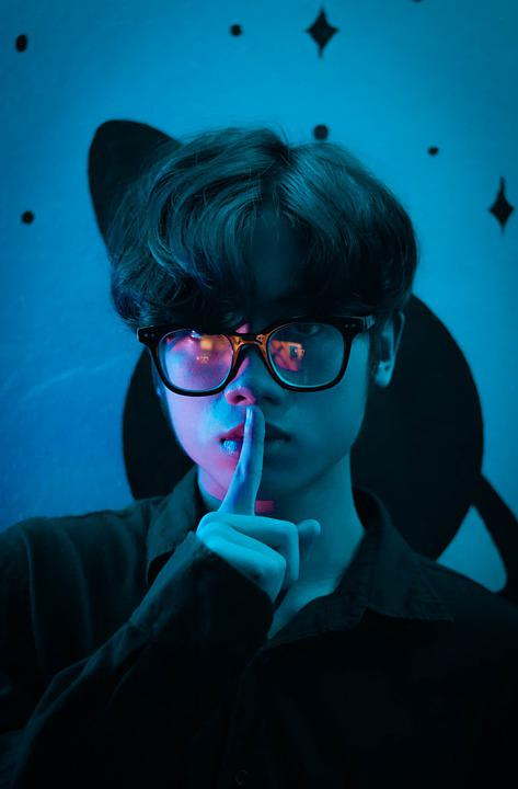 Man, Secret, Portrait, Night, Dark, Eyeglasses