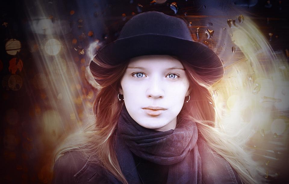 Portrait, Girl, Hat, Fashion, Redhead, Stylish, Style
