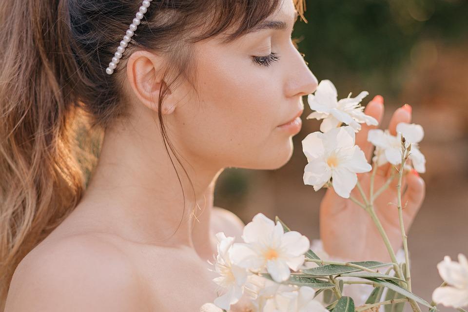 Woman, Flowers, Portrait, Girl, Female, Lady