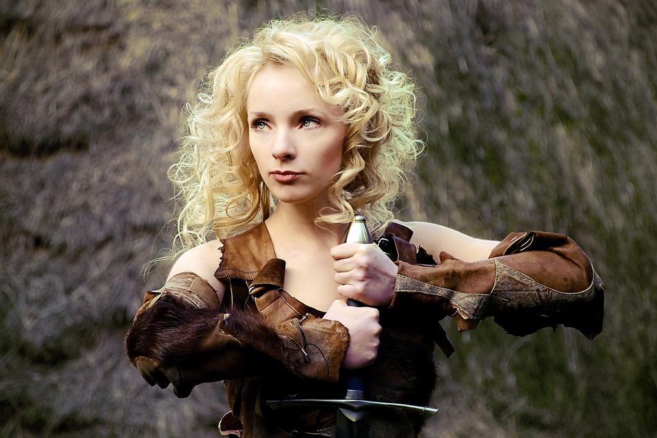 Woman, Warrior, Model, Portrait, Female, Girl