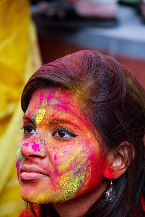 Portrait, People, Festival, Indian Girl