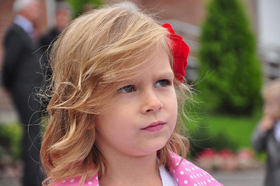 The Little Girl, Flower, Portrait, Face