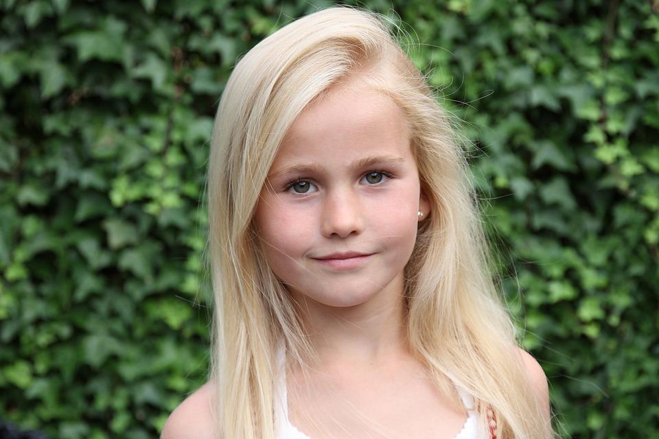 Blonde, Girl, Smiling, Portrait, Beauty, Green Eyes