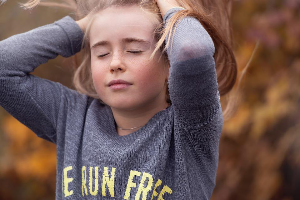 Girl, Out, Nature, Autumn, Face, Portrait, In Motion