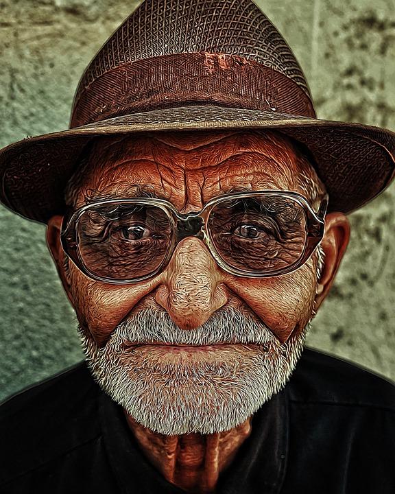 Man, Portrait, Cap, Glasses, Character
