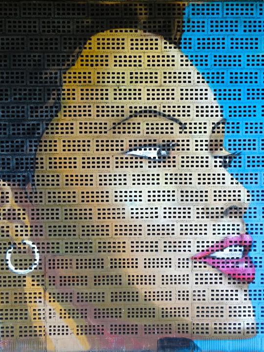 Graffiti, Woman, Portrait, Color, Colorful, Decorative