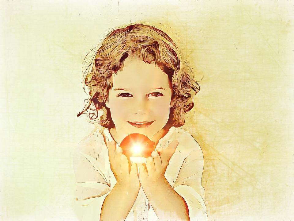 Little Girl, Treasure, Is Watching, Portrait, Cute, Kid
