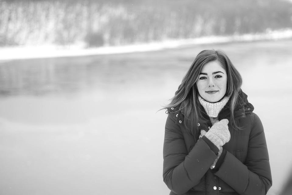 Woman, Portrait, Cold, Jacket, Gloves, Winter Clothes