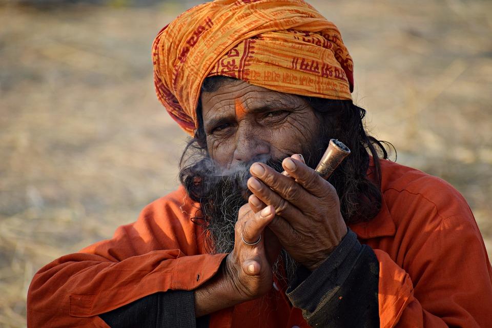 Man, Person, Portrait, India, Spiritual, Hermit, Beard