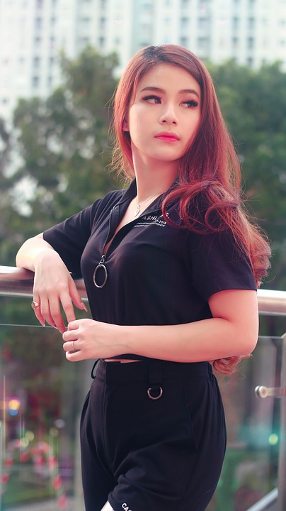 Asian, Model, Female, Girl, Fashion, Portrait, Young