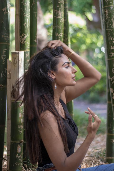 Girl, Portrait, Young, Model, Hair, Lady, Nature, Green