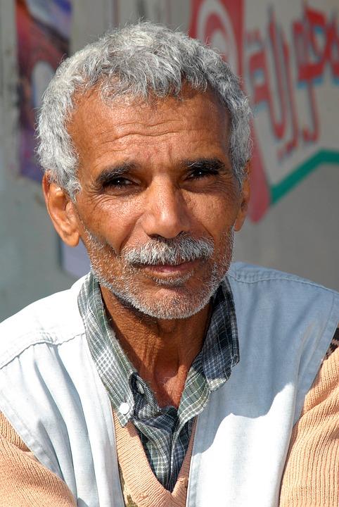 Tunisia, Man, Old, Portrait, Face, Expression