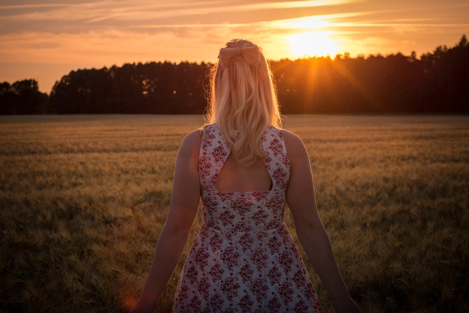 Sunset, Portrait, Summer, Out, Model, Woman, Nature